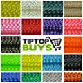 Paracord Hero Brand Para cord 550 LB Tested Paracord Available in 10, 25, 50, & 100 Foot Lengths of USA Made Rope