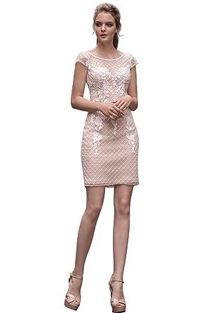 Dressvip Simple Robe De Mariée Pour Mariage Moulante Mini