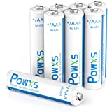 POWXS AAA Rechargeable Batteries (800mAh), Pre-Charged 1.2 Volt Ni-MH AAA Batteries - 8 Pack