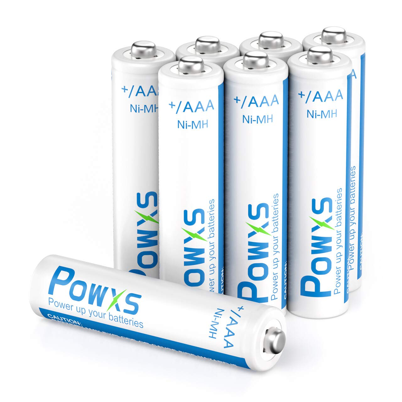 POWXS AAA Rechargeable Batteries (8 Pack), 1.2V 800mAh Pre-Charged Ni-MH Triple A Battery 1200 Cycles Long Lasting & Low Self-Discharge