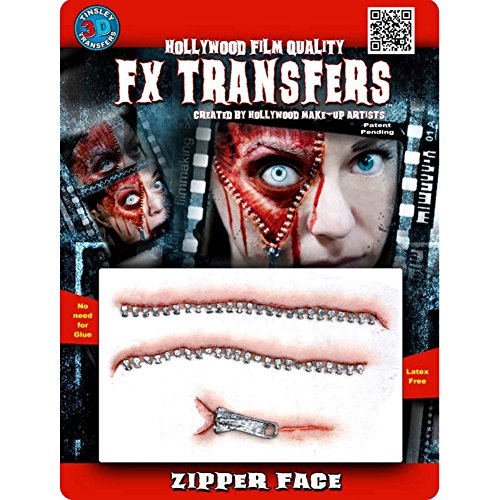 Horror Movies With Masks (Tinsley Transfers  Zipper Face, Flesh/Multi, One Size)