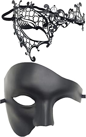 Masquerade Mask Couple Women Men Mardi Gras Venetian Ball Mask