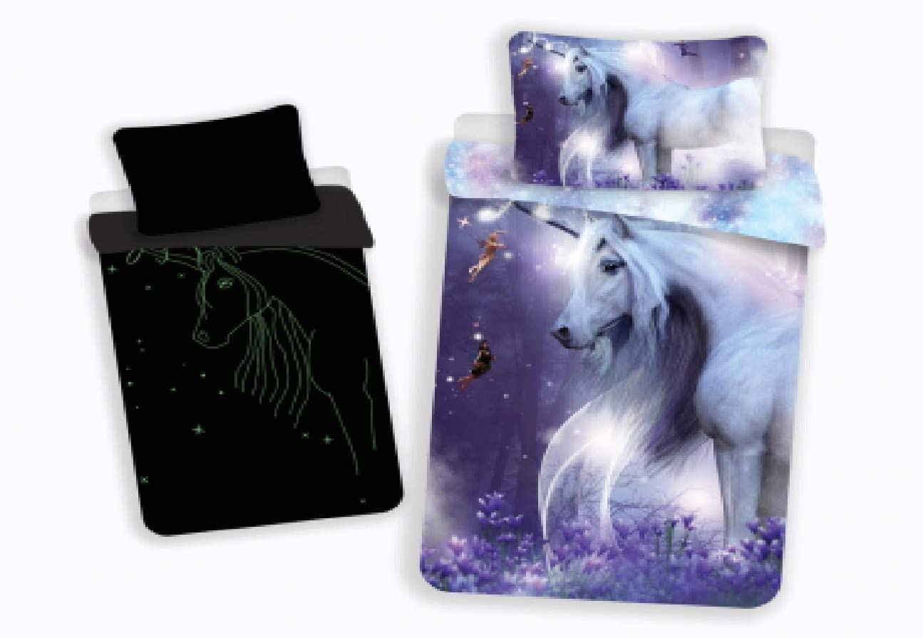 Jerry-Fabrics-Unicorn-and-Fairies-Childrens-Glow-in-the-Dark-Duvet-Cover-and-Pillow-Case-Set