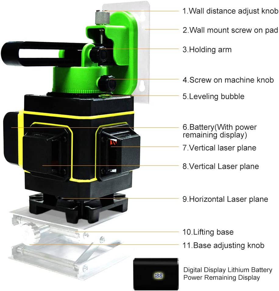 Measuring & Layout Tools Laser Levels & Accessories 12 Lines 360 ...