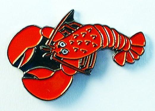 Pin De Metal Esmaltado Broche Rojo De Langosta Nota Jaques Larry Sebastian Por Principly Metal Amazon Es Hogar