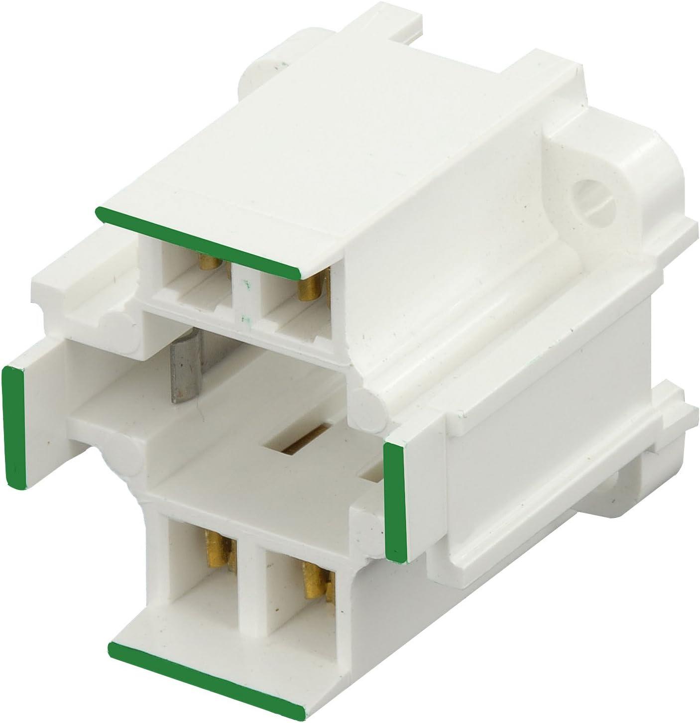 Leviton 26725-213 10mm Compact Fluorescent Lampholder White Orange Color Code