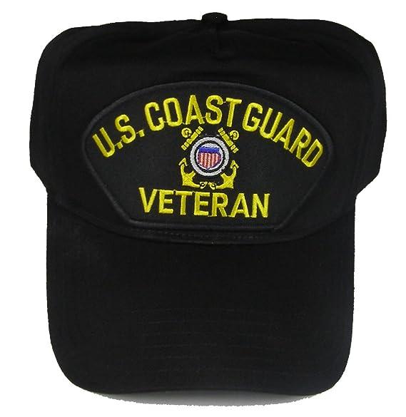 U.S. COAST GUARD Veteran Hat with USCG Crest Cap - BLACK - Veteran Owned  Business 4d665649145d