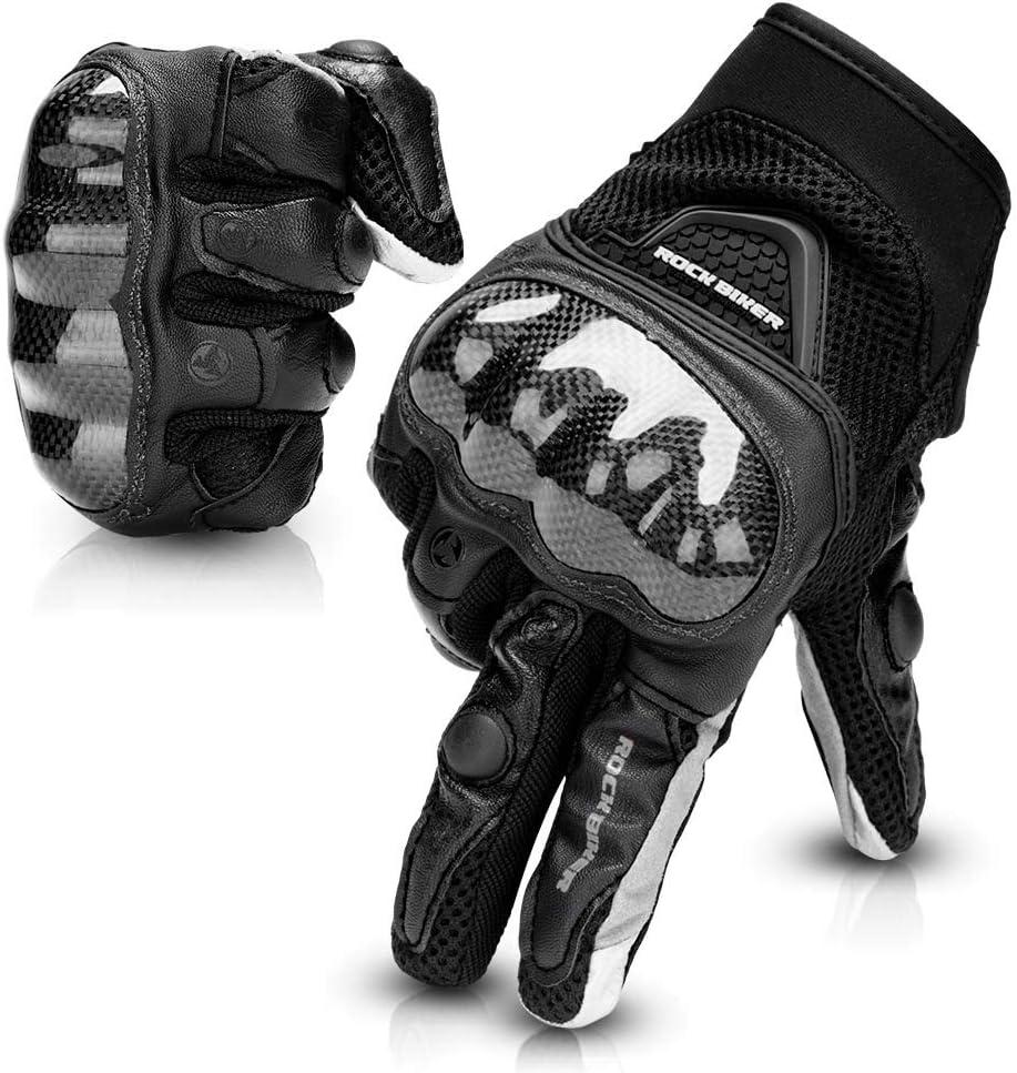 Gants Moto Randonn/é V/élo Gants Scooter Unisexe Anti-Glissant Anti-Usure Tactile Respirable pour Auto Moto Motocross Camping