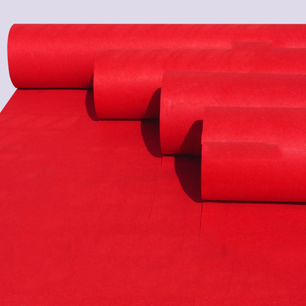 GHGMM European And American Style Thick Red Mat, Birthday Party Wedding Ceremony Hallway Aisle Fashion Show Floor Mats, Thick 2.5Mm, Non-Fading Anti-Slip Disposable Carpet,1.5M20M