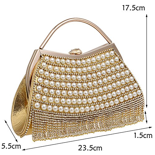NBWE Bridal Purse Small Elegant Evening Colorful Wedding Clutch Party Handbag Clutch Bridal Ladies Bag Handbag Diamante Crossbody rxqrwSC