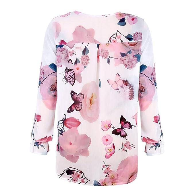Blusas Mujer, ASHOP Casual Floral Impreso Sudaderas Moda Elegantes Ropa en Oferta Camisetas Manga Larga Tops de Fiesta Abrigos Invierno de Mujer otoño: ...