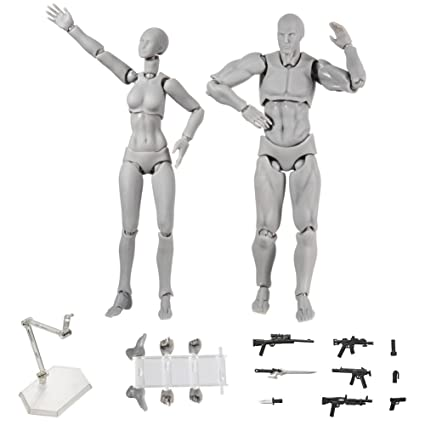 Action Figure Model Tulas Human Mannequin Male Female Set With Model Gun And Sword Different Gestures Special Display Base Suitable For Sketching