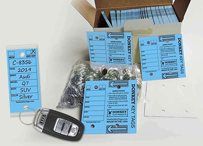 250 CT OF VERSA-TAGS FOLDING KEY TAGS YOUR COLOR CHOICE WITH FREE SHIPPING