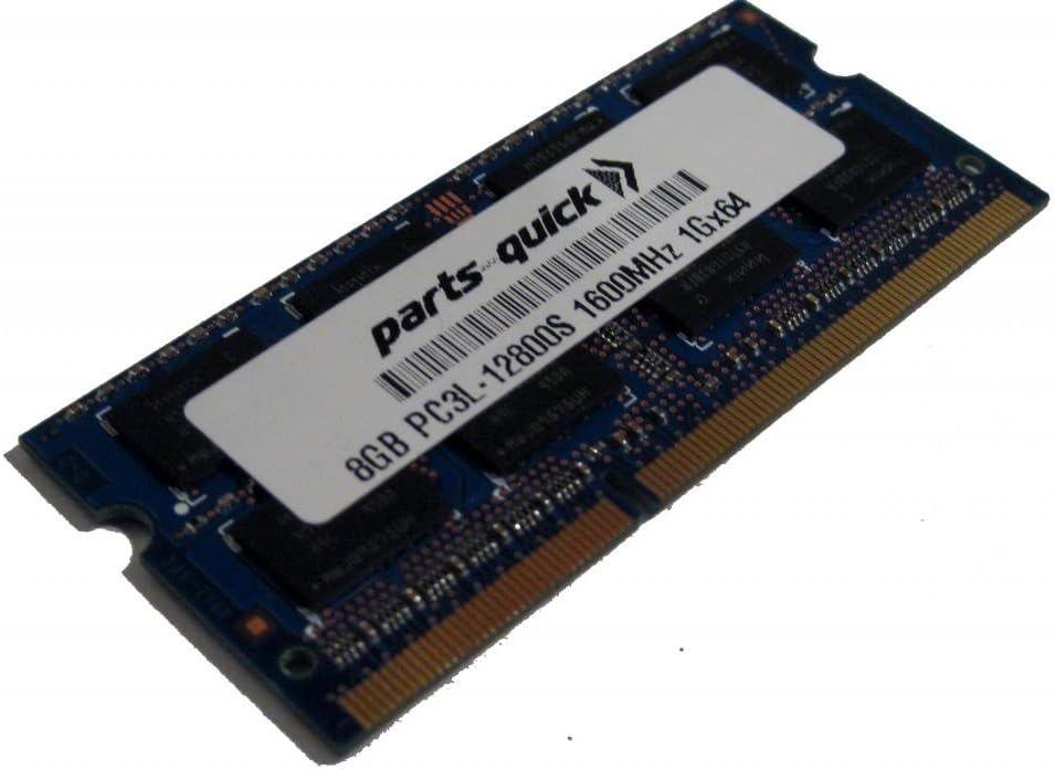 8GB Memory Upgrade for Lenovo ThinkPad E540 DDR3L 1600MHz PC3L-12800 SODIMM RAM (PARTS-QUICK Brand)