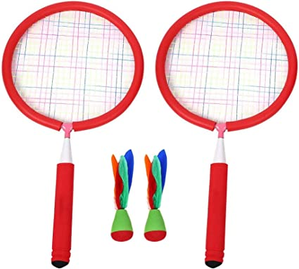NBR Rubber Badminton Training Racquet Children Game Toys with 2 Badmintons VGEBY 1Pair Kids Badminton Racket