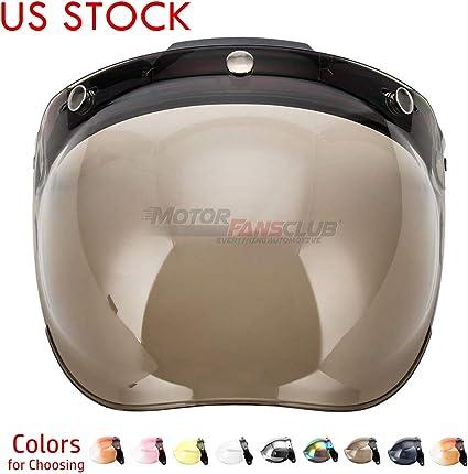 Flip Up Bubble Shield Anti Fog Visor for 3 Snap Helmets