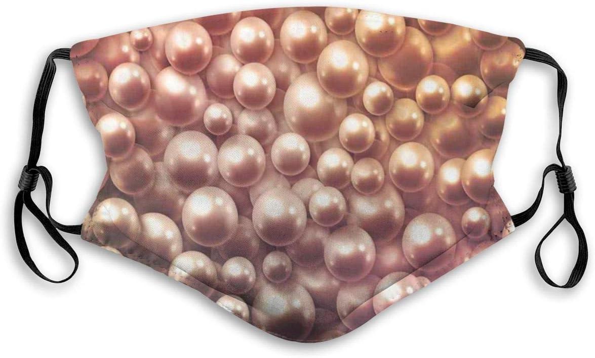 Boca Ma-SK, Perlas nacaradas Raras Mixtas de Varios tamaños Concepto de ostras de Piedras Preciosas Patrón Ombre Amarillo, Decoraciones faciales Impresas con Filtro para niños Adultos