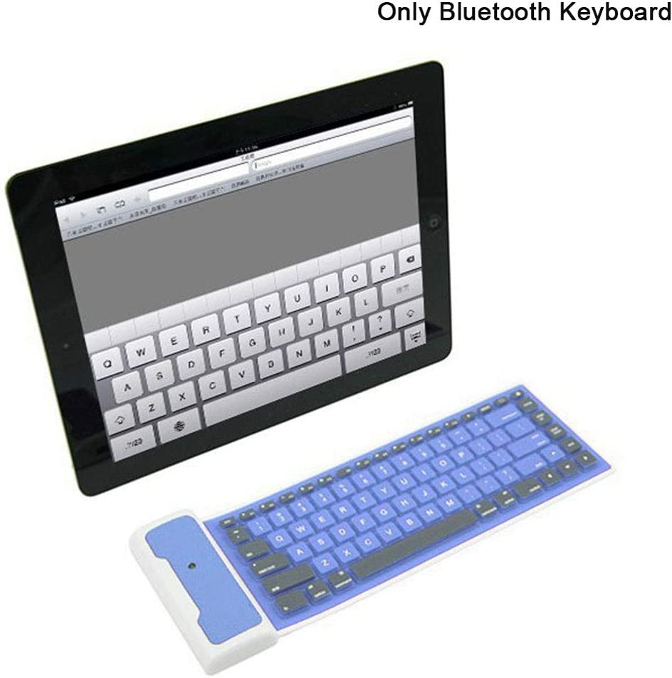 Portable Computer Silicone Durable Phone Foldable Soft Wireless Low Noise Bluetooth Keyboard Laptop Rechargeable