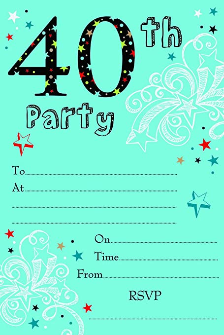 Image Unavailable Not Available For Color 40th Birthday Party
