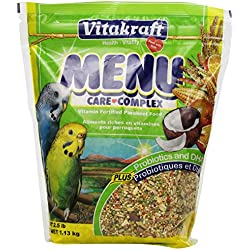 Vitakraft Menu Vitamin Fortified Parakeet Food, 2.5 Lb.