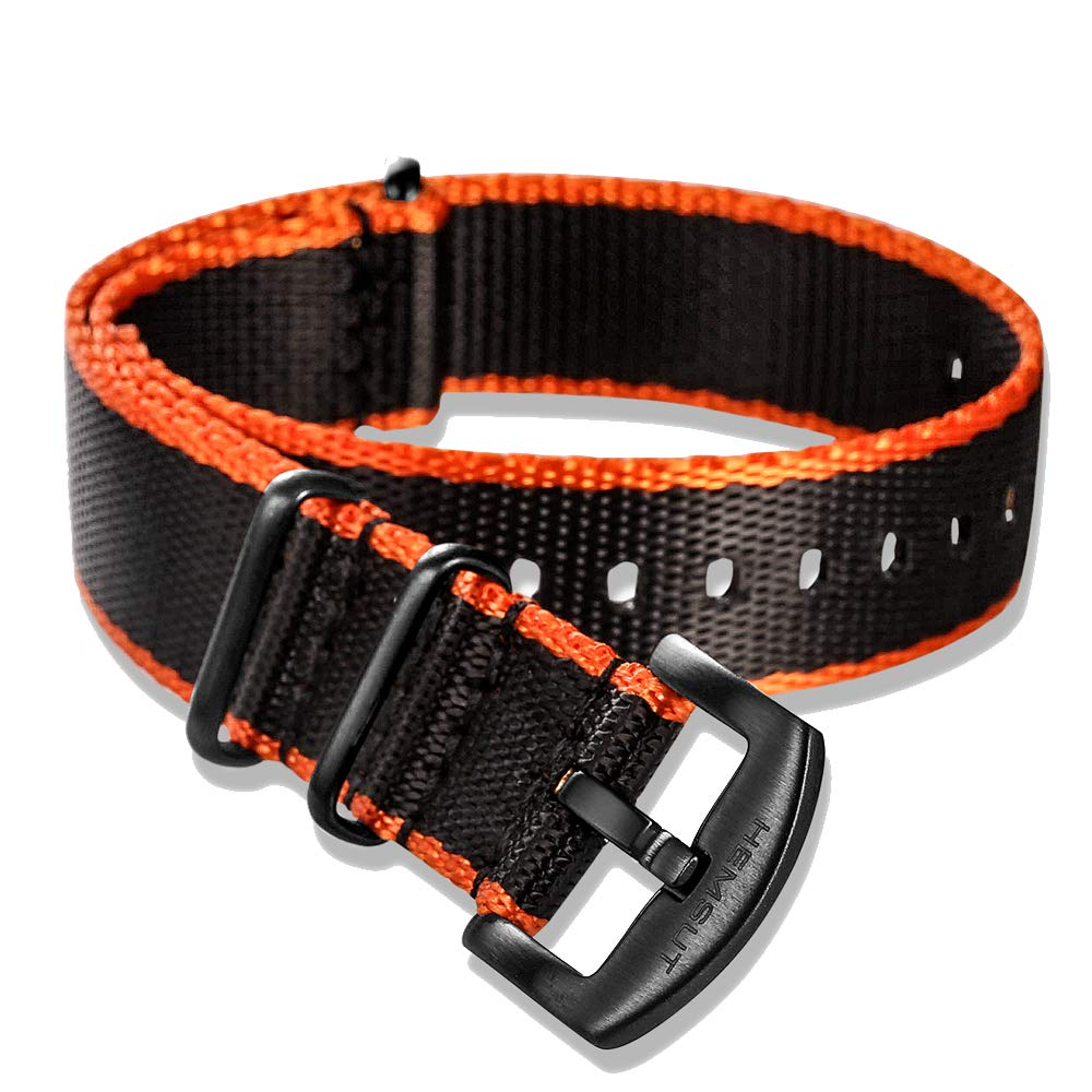 Torbollo NATO Strap Soft Watch Bands for Men Women Seatbelt Quality Nylon Replacement with Heavy Duty Brushed Buckle of 18mm 20mm 22mm 24mm