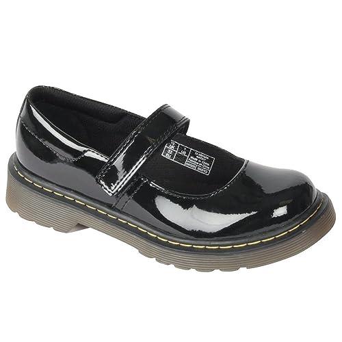 Dr. Martens Maccy Patent Lamper Black, Mocasines para Niñas: Amazon.es: Zapatos y complementos
