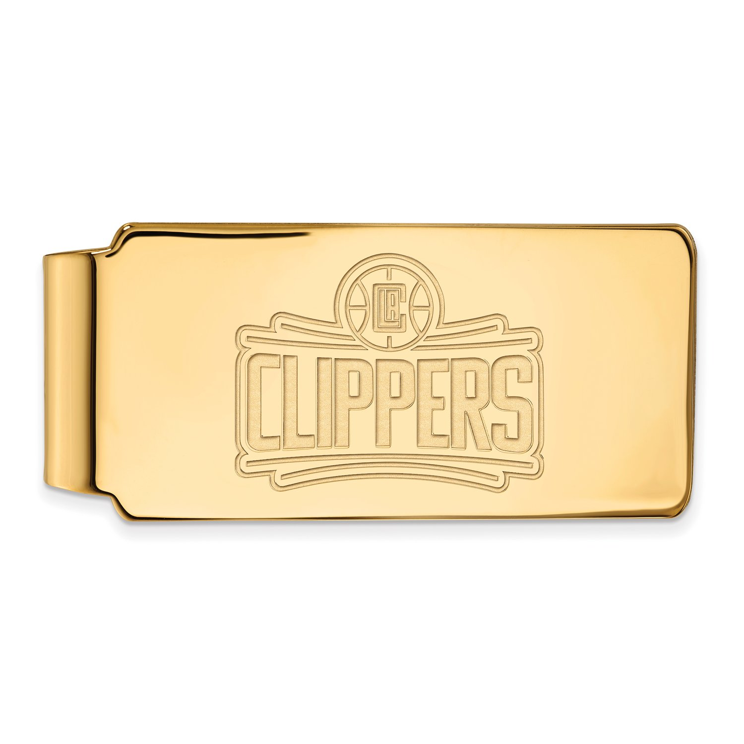 14k Yellow Gold Los Angeles Clippers Money Clip