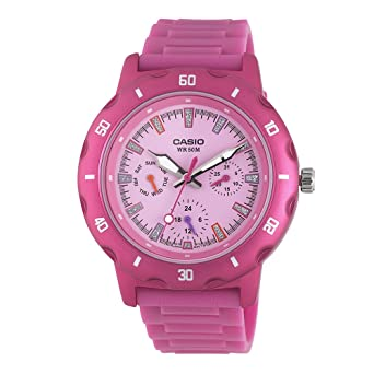 Casio Womens LTP1328-4EV Sport Classic Pink Analog Dial and Resin Strap Watch