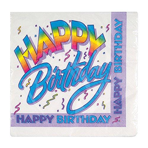 80s Theme Party Ideas (Retro Rainbow Birthday Party Napkins, 16ct)