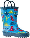 Oakiwear Kids Rubber Rain Boots | Mermaids, Pirates, Crocodile, Purple Fairies, Blue Dino, Army