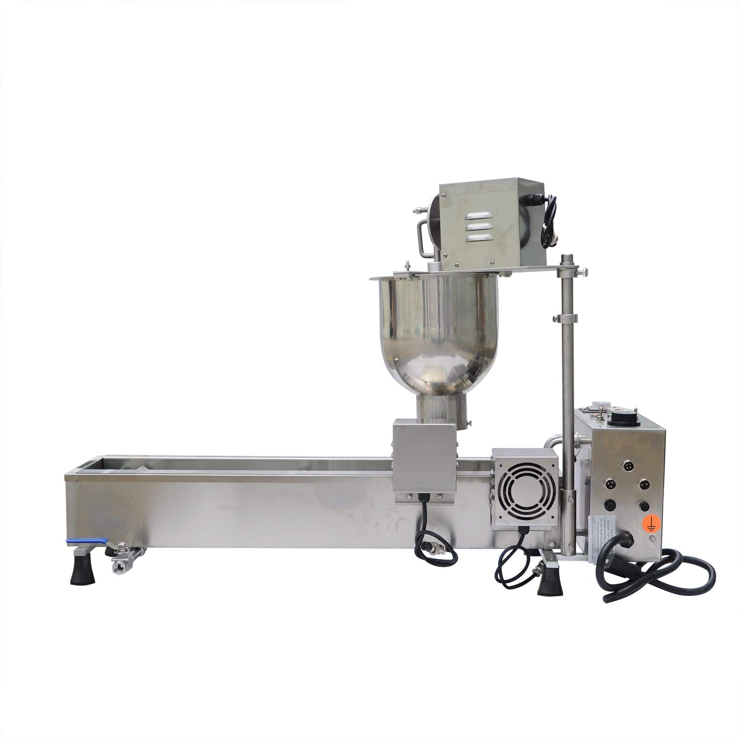 Wotefusi New Donut Frying Machine Commercial Full Automatic Donut Maker Easy Operation 450-500Pcs/H 110V by Wotefusi
