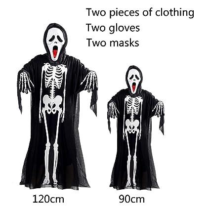 YINGZU Traje de Piel de Hueso Esqueleto Mediano para Hombre ...