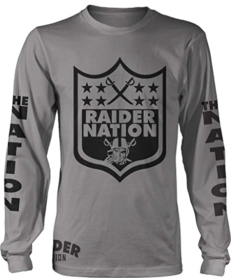 ae8a8568 Millionaire Mentality Raider Nation Sword Long Sleeve Grey T-Shirt (Limited  Edition)