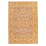 Carpet Art Deco Bellaire Collection Indoor Outdoor Rug, 5'3'' x7'5, Orange/Beige
