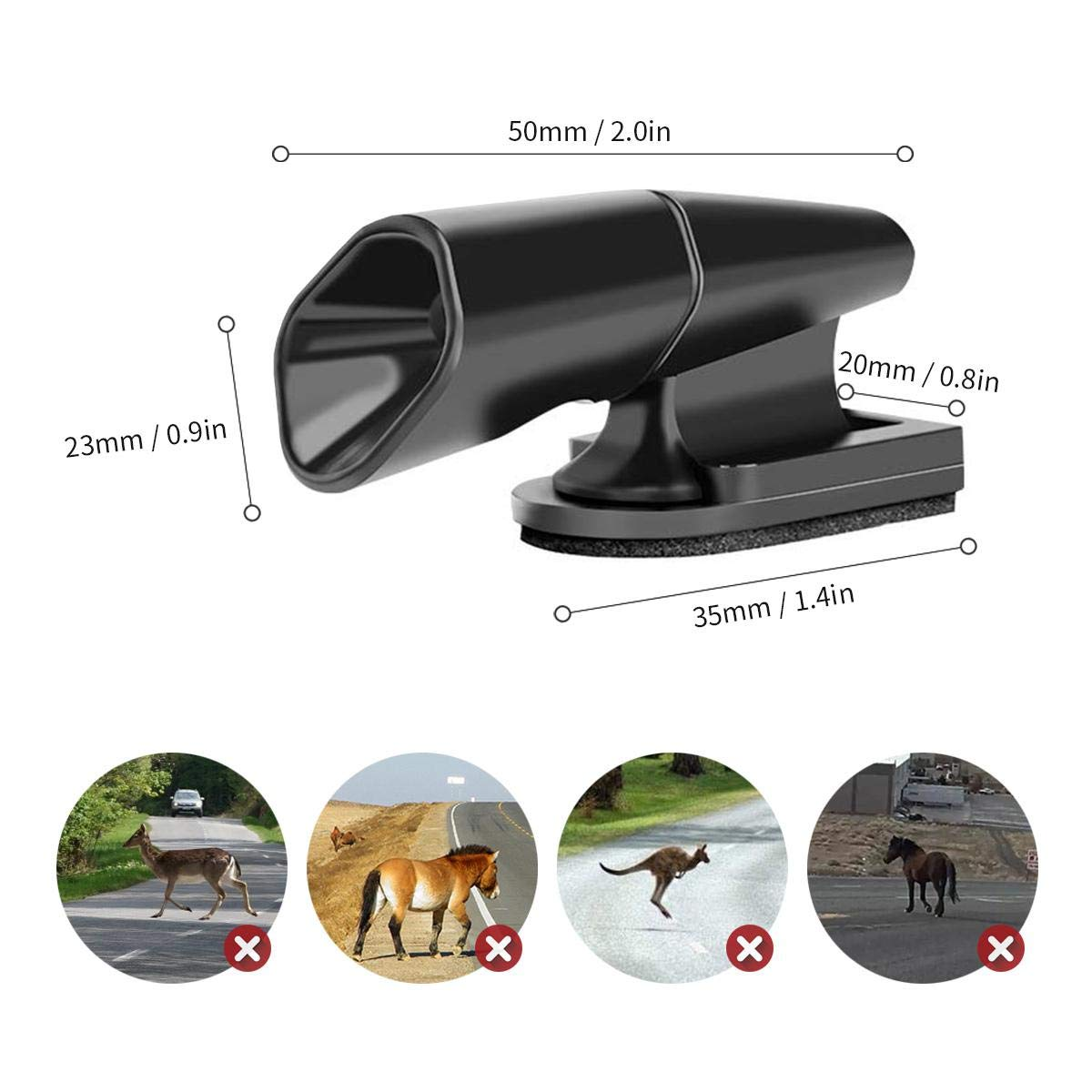 Ceepko Latest Upgrade 4PCS Save A Deer Whistles Deer Warning Devices for Cars /& Motorcycles Include Ultrasonic /& Wind Whistle Car Safety Accessories Gift