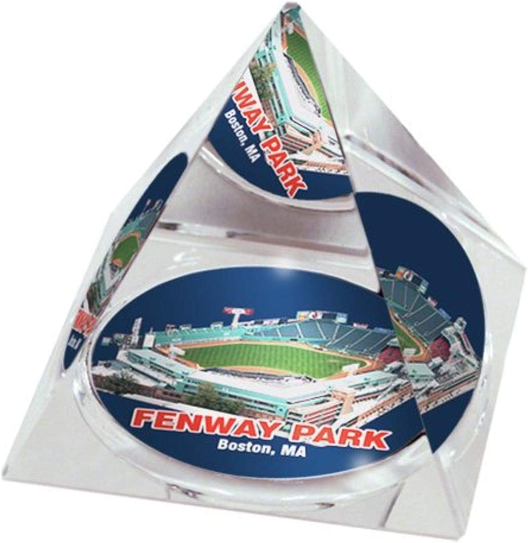 """MLB Boston Red Sox Fenway Park in 2"""" Crystal Pyramid with Colored Windowed Gift Box"""