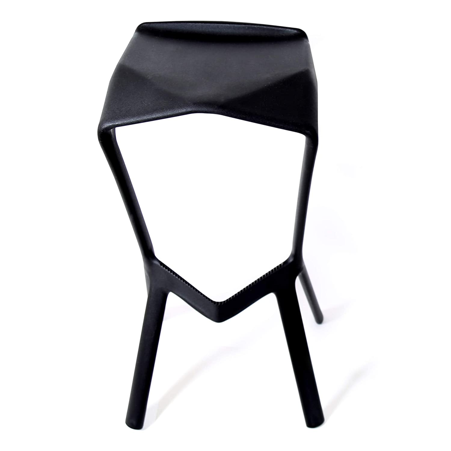 Awe Inspiring Amazon Com Vkf Renzel Usa Corp Miura Bar Stool Black Inzonedesignstudio Interior Chair Design Inzonedesignstudiocom