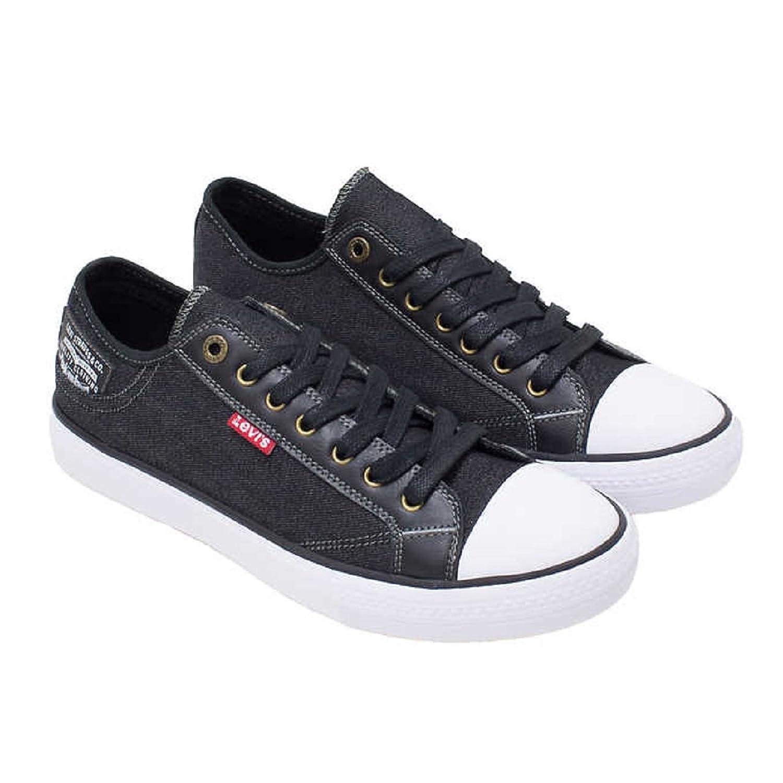 Levi's Mens Black Denim Slip On Sneakers/ Tennis/ Shoe w Comfort Tech for  Everyday