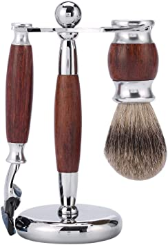 Juego de afeitado, barba de afeitar para hombres Juego de limpieza ...