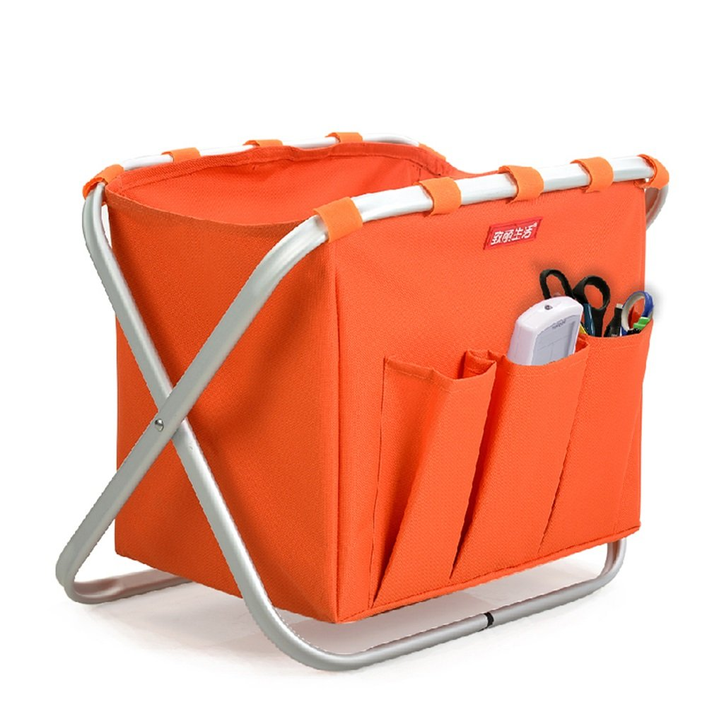 JH La Librería Estantes De La JH Revista De Aterrizaje Estantes De Periódicos Plegables Estantes De Aluminio De Aleación De Escritorio 38 Cm X 28 Cm X 34 Cm ++ (Color : Naranja) cd3cab