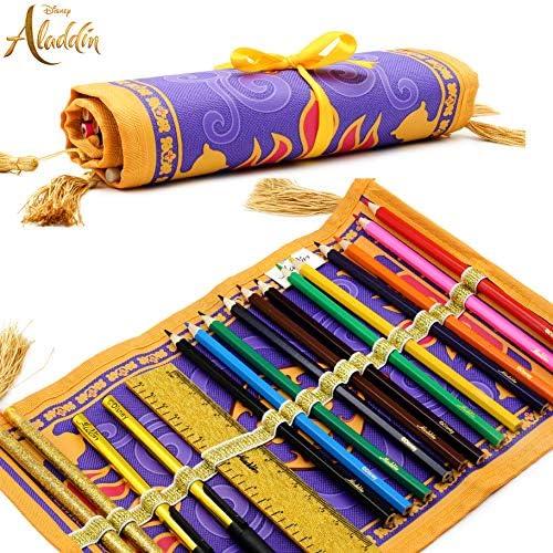 Estuche enrollable de la alfombra de Aladdin de Disney | Diseño con 17 lapices de colores | Idea de set regalo para niños a partir de 3 años: Amazon.es: Juguetes y juegos