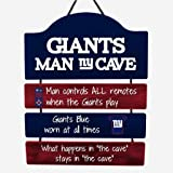FOCO New York Giants NFL Mancave Team Logo Man Cave Hanging Wall Sign
