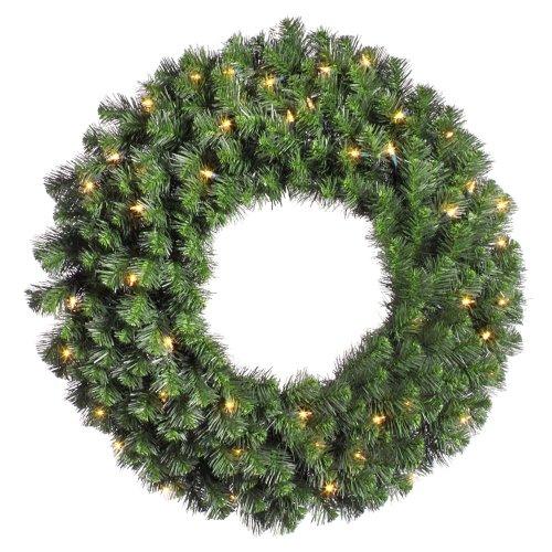 Douglas Fir Pre-Lit Artificial Wreath