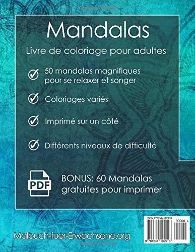 Cahier De Coloriage Adulte A Imprimer Pdf.Mandala Livre De Coloriage Pour Adultes Anti Stress 60 Mandalas