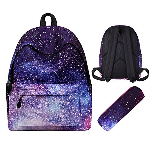 Backpack For Teen,Unisex Causal Canvas Cute Galaxy School /Laptop Backpack/Book bags/Day packs for Students/Teen Girls/Boys/Women/Hiking/Travel/Camping(Pencil Case)