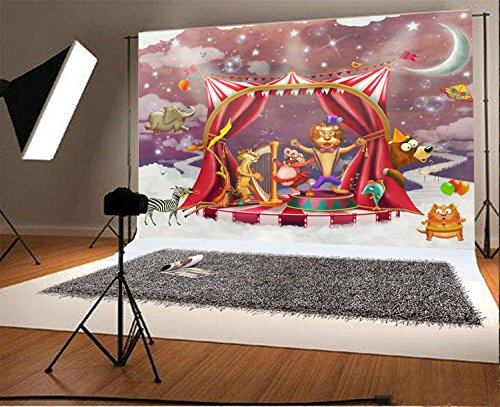 7x5ft Photography Background Vinyl Fantastic Beautiful Pattern Circus Personal Photo Backdrop Studio Props (Floor 7 Halloween Special)