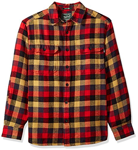 Woolrich Men's Oxbow Bend Flannel Shirt, Red/Multi, - Shirts Woolrich Wool