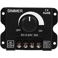 LED-schakelaar Dimmer, 12V-24V 30A Enkele Kleur Strip Licht Dimmende Controller met Knop AAN/UIT-functie PWM Handmatige…