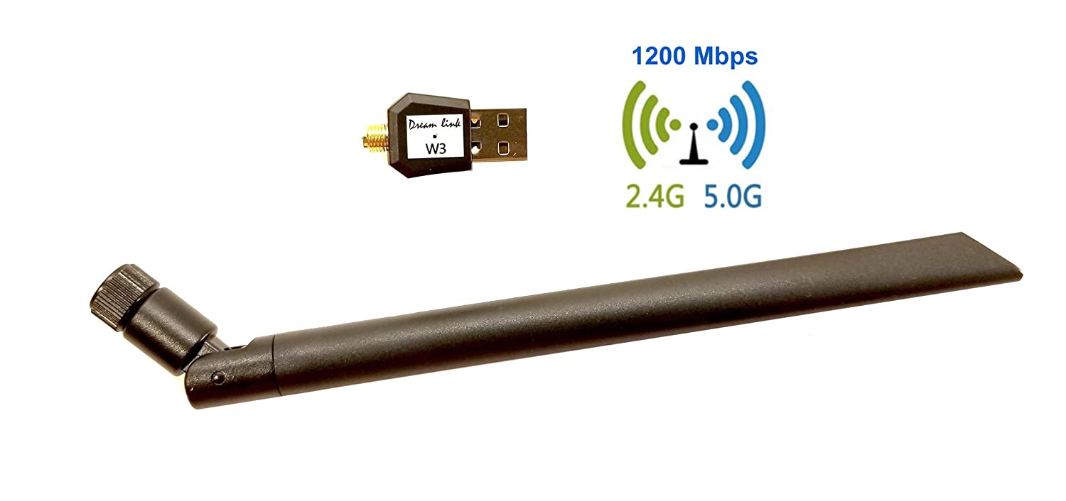 Dreamlink W3 USB WiFi Dongle 1200Mbps High Gain Wi-Fi Antenna for Dreamlink T2 & Formuler Z7+
