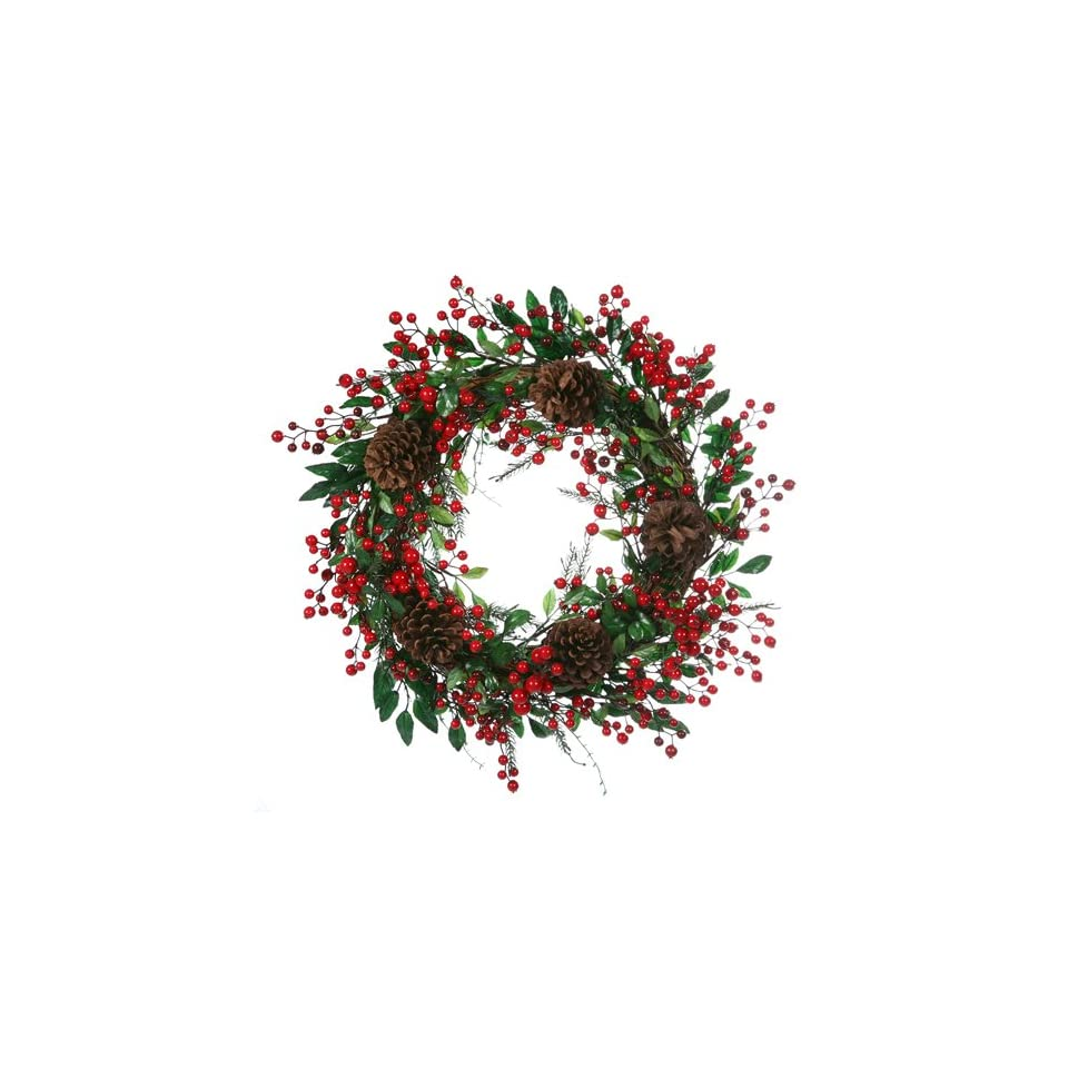 26 Outdoor Mixed Berry & Pine Cone Artificial Christmas Wreath